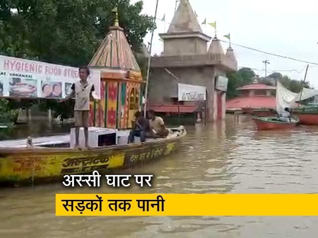 वाराणसी: गली-गली नाव चली, ना अस्सी, ना तुलसी, हर ओर बस बाढ़ का कोहराम