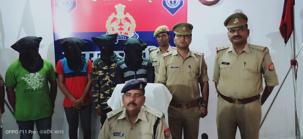 गोरखपुर: डीजल चोर गैंग के चार सदस्यों को गगहा पुलिस ने किया गिरफ्तार