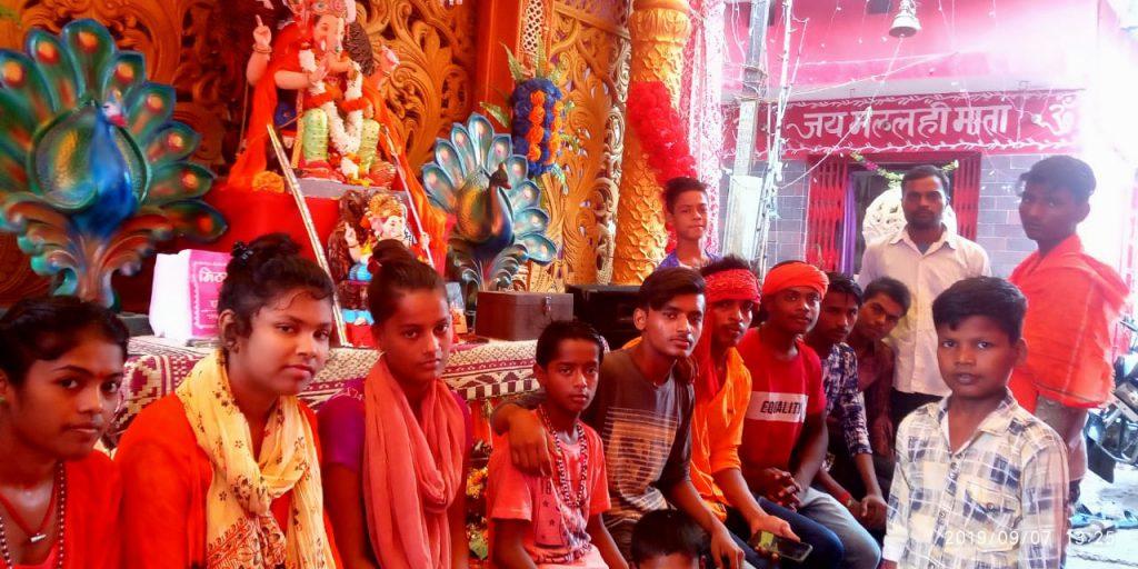 गोण्डा: जय मल्लही माता मंदिर में गणेश पूजा महोत्सव की पूरे जिले में धूम धाम