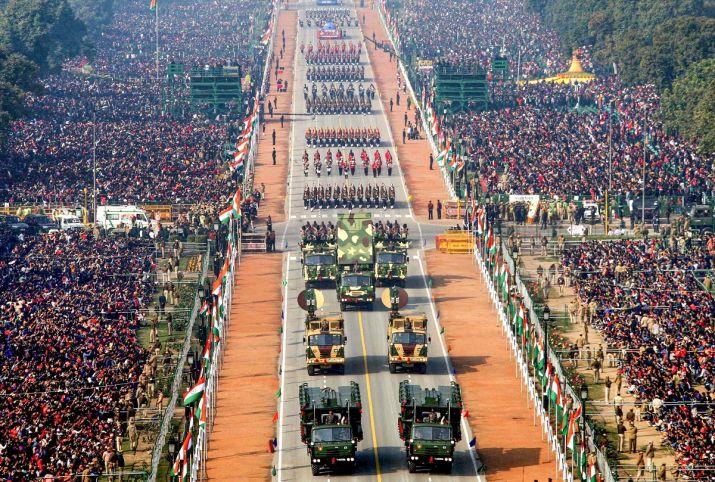 गणतंत्र दिवस परेड: भारत की आन बान शान की एक तस्वीर राजपथ पर देखी गई