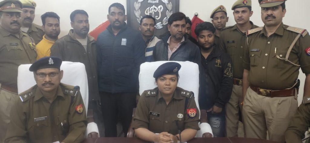 अमेठी में पुलिस ने लूटकांड के 7 शातिर लुटेरों को किया गिरफ्तार