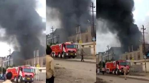 बाराबंकी की राइस मिल में लगी आग, लाखों का धान और चावल जलकर खाक, कड़ी मशक्कत के बाद फायर ब्रिगेड ने पाया काबू